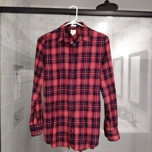 J. Crew red and blue flannel - size XS